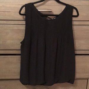 Max Studio black blouse size XL
